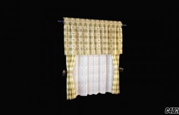 C4D模型 现代装修 窗帘模型40