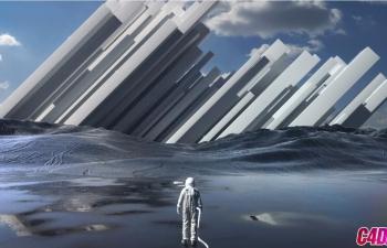 C4D UTV-OC宇航员超现实场景案例进阶