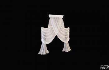 3D模型 现代装修 窗帘模型30