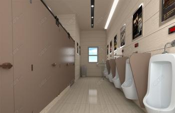 C4D模型 公共厕所效果图模型 redshift渲染