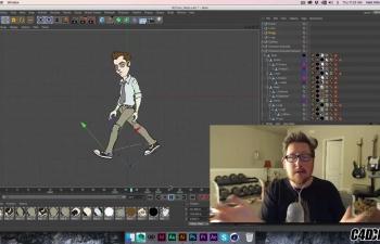 C4D 绑定制作二维人物走路动画教程