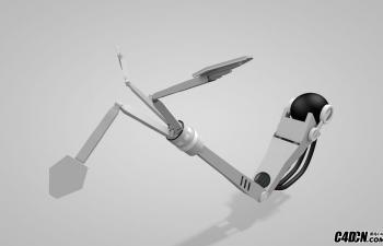 C4D机器人手臂机械臂模型(含绑定)