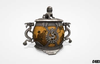 C4D中国古代文物模型 chinese ancient relics