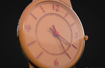 手表模型Wall Clock 3d model