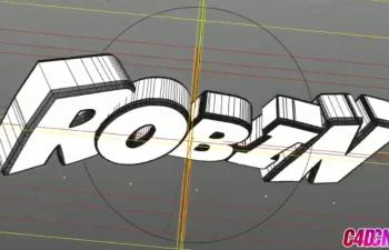C4D教程 炫酷摄像机动画文字翻转片头演绎教程