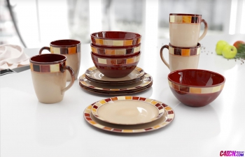 水杯咖啡杯子茶壺C4D模型