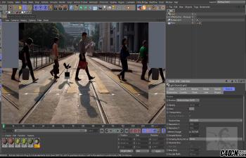 CINEMA 4D教程—— 导出阴影和反射到后期制作(阴影捕捉的使用方法)