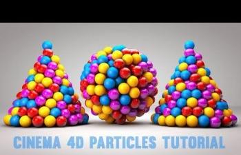 C4D R18教程-粒子发射器的教程| C4D 教程