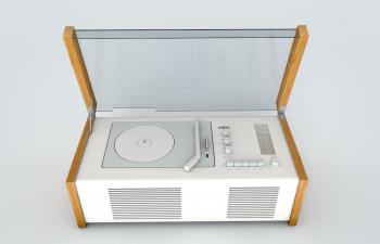 博朗唱片机模型