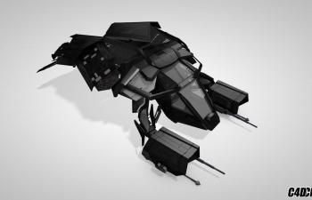 C4D蝙蝠侠蝙蝠战车模型 the bat model