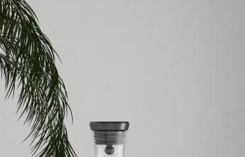 实景玻璃水壶和玻璃杯