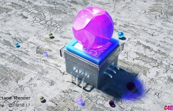 C4D工程 Octane渲染器炫彩玻璃