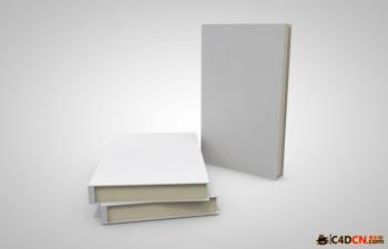 C4D三本书模型