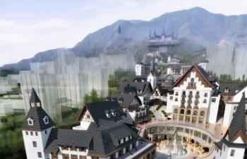 完整的瑞士风情建筑群模型
