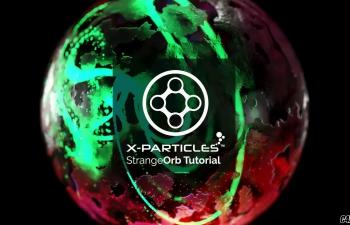 C4D教程-X-Particles 4结合Cycles 4D渲染器制作动态玻璃球粒子动画教程