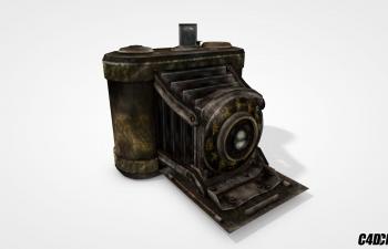 C4D老式暗箱照相机模型 FF2 Camera obscura