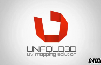C4D插件 Unfold3D导出UV插件 Unfold3D Exporter for C4D R18