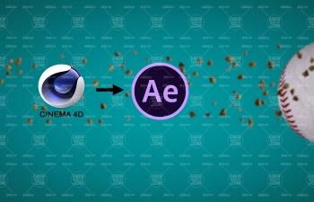学习简单的C4D多通道序列AE合成教程 LERN EINFACH C4D MULTIPASS SEQUE