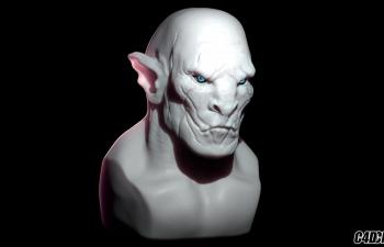 C4D魔戒兽人模型雕刻教程