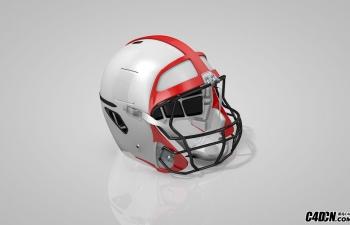 C4D橄榄球头盔模型 Football Helmet