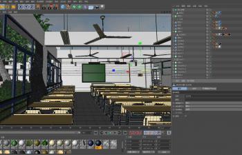 C4D教室模型