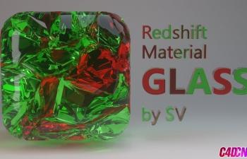 Redshift渲染器玻璃材质灯光渲染技巧C4D教程 Redshift C4D Material an