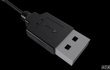 C4D模型 USB插头 电脑插头