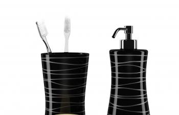 C4D模型 洗手间牙刷缸子肥皂盒洗头膏洗发露包装瓶模型