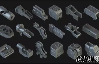 400多件硬面机械结构模型