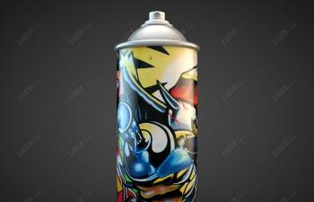 C4D街头涂鸦喷漆罐气雾罐模型下载