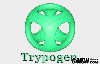 C4D插件-抽象多边形镂空插件 Trypogen for 汉化版