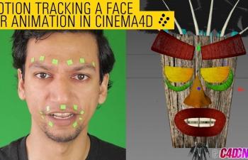 C4D教程 人脸视频AE跟踪导出C4D制作面部表情动画反求C4D动画教程