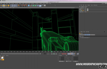 C4D教程 线描渲染器制作漫游动画教程