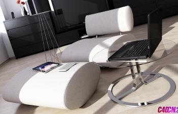 25套C4D数码模型笔记本电脑主机电视机显示器鼠标键盘触摸板手绘板ipad平板电脑投影仪音响路由器C4D模型合集