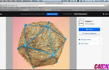 快速使用头发和刷子制作复杂的几何图形C4D教程 Make Complex Geometry Quickly With Hair And Brushes