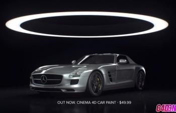 C4D奔驰跑车汽车材质灯光环境渲染技巧C4D教程