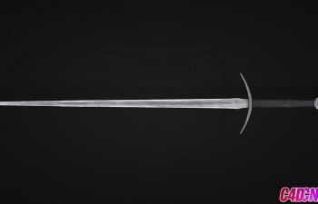 冷兵器宝剑C4D模型