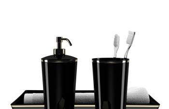 C4D模型 洗发露牙刷牙缸毛巾肥皂盒模型
