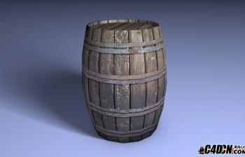 木桶水桶酒桶模型Wood Barrel