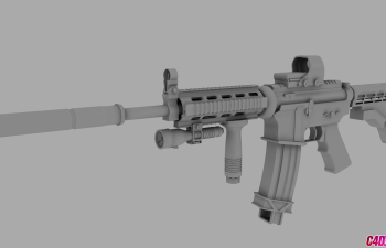 多格式高精度写实M4A1模型