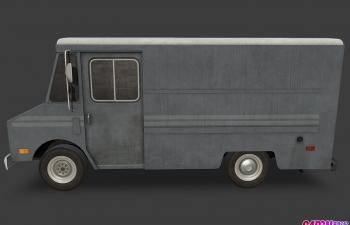 雪佛兰Step Van厢式货车运输车C4D模型 chevrolet StepVan 1968