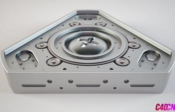 C4D教程 硬表面机械零件布线建模教程