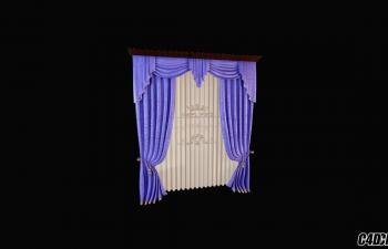 3D模型 现代装修 窗帘模型29