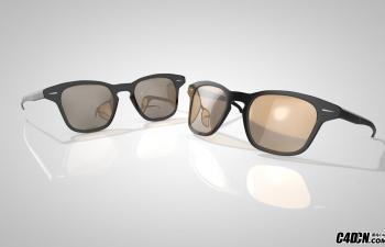 黑框眼镜墨镜C4D模型