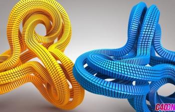 C4D教程 莫斯闭环方块魔方倒角变形器教程 C4D Modeling Tutorial -- Create Abstract Shape
