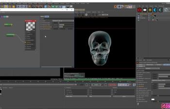 Octane渲染器X光效果光效材质渲染C4D教程