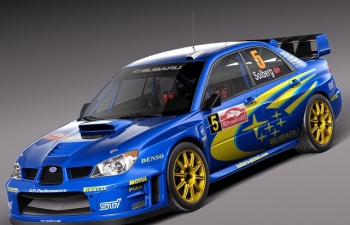 斯巴鲁翼豹2006STIWPC世界拉力赛版拉力赛车汽车模型