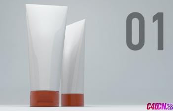 C4D洗面奶UV贴图包裹教程