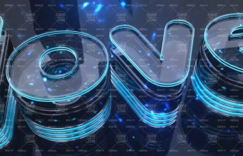 玻璃材質發光字文字設計C4D教程