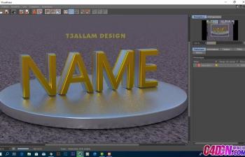 C4D教程 R16新材质系统如何创建黄金材质文字教程